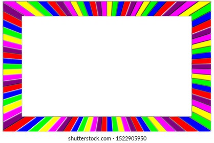 Colorful page border frame layout