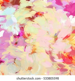 Colorful Painted Brushstrokes Background