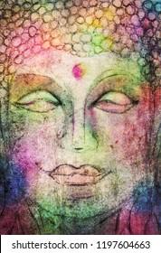 Colorful painted Buddha