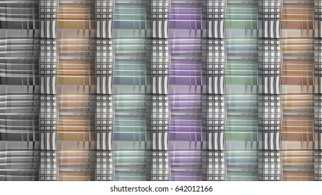 Colorful  Pattern of lines in a Cubic Geometric Structure
