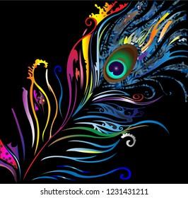 colorful peacock petal