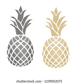 colorful pineapple icon and icon, pineapple illustrator