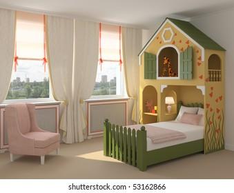 Luxury Kids Bedroom Images Stock Photos Vectors Shutterstock