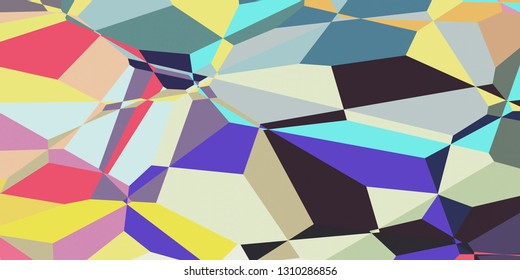 Colorful Polygonal Mosaic Triangle Background Abstract Design