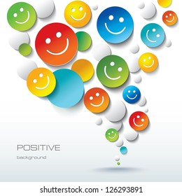 Colorful Positive background with Smileys and emoji.