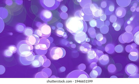 Colorful purple fast blur light bubble divine dimension bokeh blur absract dark background