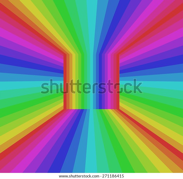 Colorful Rainbow Abstract Background Rgb Color Stock