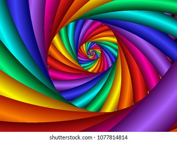 colorful rainbow fractal