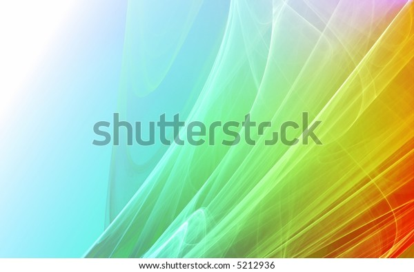 Colorful rendered fractal. Abstract background