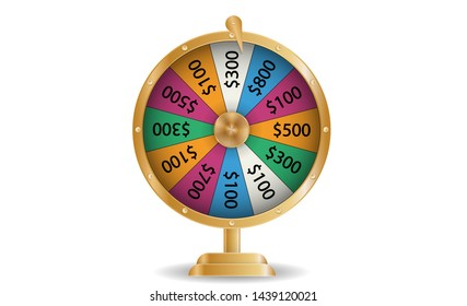 Colorful roulette wheel Chance of victory. Fortune concept.  Illustration.