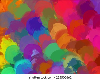Colorful round brush strokes