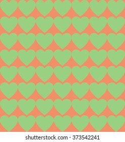 Colorful seamless pattern of hearts for Valentines Day. Illustration.