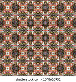 Colorful seamless Persian Carpet. Ethnic texture abstract ornament. Middle Eastern Traditional Carpet Fabric Texture. Arabic, turkish carpet ornament. Persian Textures and traditional motifs, vintage.