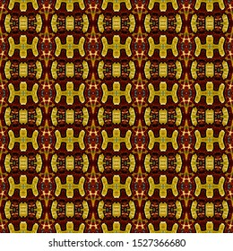 Colorful seamless portuguese ethnic tiles azulejos. Ikat spanish tile pattern. Italian majolica. Mexican puebla talavera. Moroccan,Turkish floor tiles. Ethnic tile design. Tiled texture for flooring.