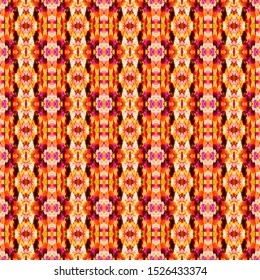 Colorful seamless portuguese tiles. Ikat spanish tile pattern. Italian majolica. Mexican puebla talavera. Moroccan,Turkish, Lisbon floor tiles. Ethnic tile design. Tiled texture for flooring ceramic.