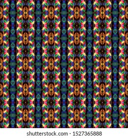 Colorful seamless portuguese tiles. Ikat spanish tile pattern. Italian majolica. Mexican puebla talavera. Moroccan, Turkish, Lisbon floor tiles. Ethnic tile design. Tiled texture for flooring ceramic.
