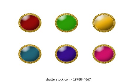 Colorful show buttons for ladies' garments—frocks, skirts, Kurtis, shirts, blazers, gowns.