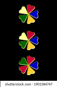 Colorful show buttons on black background suitable for ladies garments such as frocks, Kurtis, tops, gowns, coats, blazer.