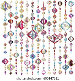 Colorful Sketched Ornaments