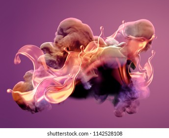 Colorful smoke. 3d illustration, 3d rendering.