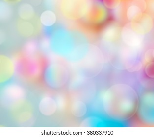Colorful soap bubbles background.Childhood design blur illustration.Easter spring party positive wallpaper.
