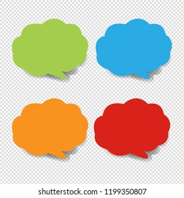 Colorful Speech Bubble Collection Transparent Background