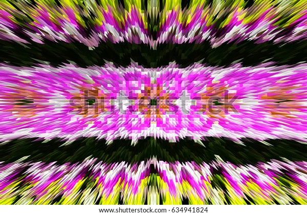 Colorful spiky kaleidoscopic pattern for textile, ceramic tiles, wallpapers and design