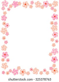 Colorful spring flowers border frame stock vector royalty free colorful spring flowers border frame mightylinksfo