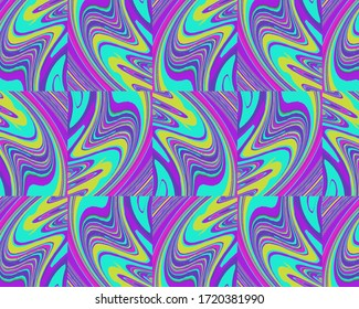 Colorful square art psychedelic effect