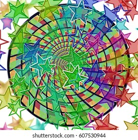 Colorful Stars Background Illustration