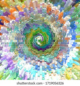 colorful swirl  sun brust type digital background