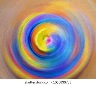 Colorful swirling abstract transformed into a digital painting