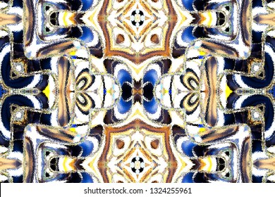 Colorful symmetrical abstract pattern for textile and design