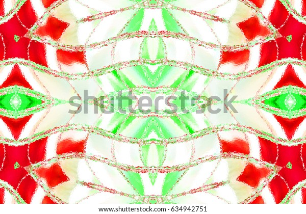 Colorful symmetrical horizontal pattern for textile, ceramic tiles and design