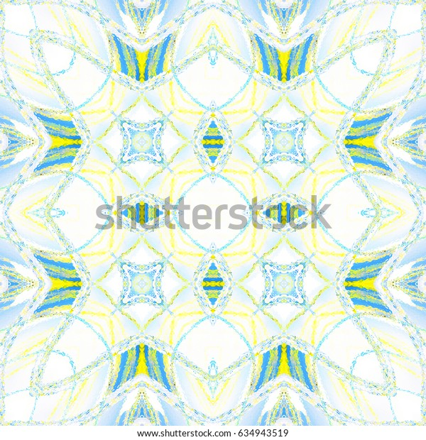 Colorful symmetrical pattern for textile, tiles and design