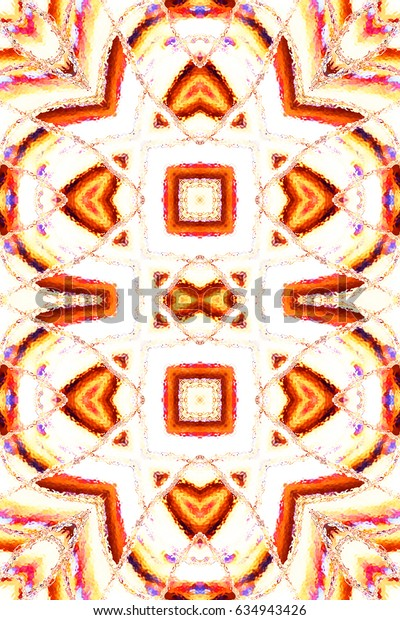 Colorful symmetrical vertical pattern for textile, tiles and design
