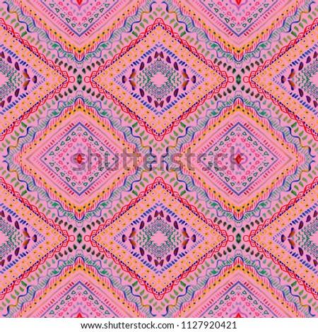 be28d632 Colorful tie dye indigo shibori print. Seamless hand drawn boho batik  pattern. Ink textured japanese background. Modern batik wallpaper tile.