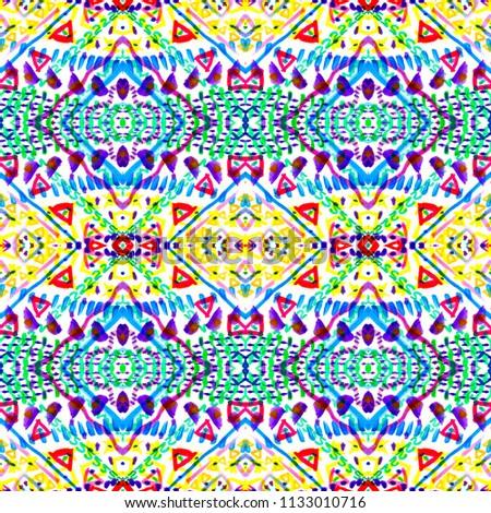 3650b3f6 Colorful tie dye shibori print. Seamless hand drawn boho batik pattern. Ink  textured japanese background. Modern batik wallpaper tile.