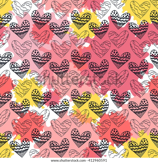 colorful-vintage-artistic-raster-hearts-