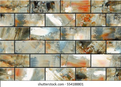 Colorful vintage ceramic tiles wall decoration/Digital tiles design
