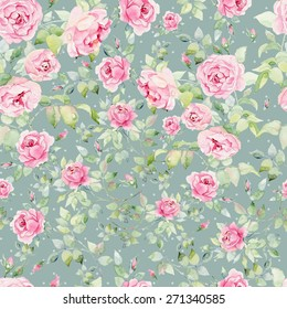 Colorful vintage pattern with floral ornament useful as background.