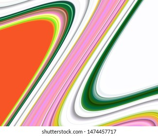 Colorful vivid fluid waves geometries, fluid lines in pastel rainbow colors