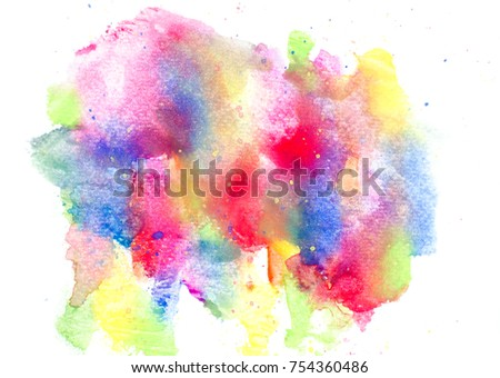 Colorful Watercolor Background Color Splash On Stock Illustration
