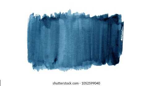 Colorful watercolor background hand painted on white background