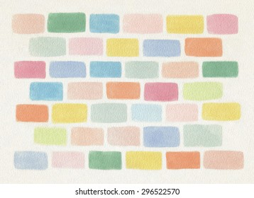 Colorful Watercolor Brick