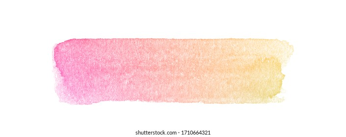 Colorful watercolor isolated brush. Beautiful watercolor brush for painting