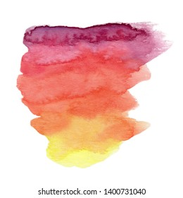 colorful watercolor stain on white background