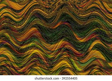 Colorful wavy stripes pattern. Horizontal curvy lines. Illustration.