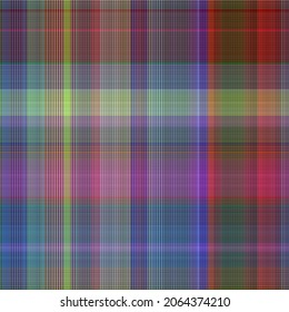 Colorful winter masculine seamless plaid texture. Multicolor space dyed effect checker background. Woven tweed pattern tile.