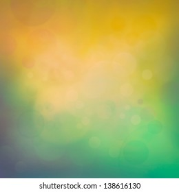 Colorful yellow summer bokeh background. Spring or summer abstract  background